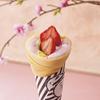 桜風味の華やかな色&味わい!一足先に、春を味わう『クレープ&ワッフル』限定で登場