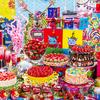 ポップでカラフルなレインボーケーキも♪ まるでアートのようなブッフェ『ストロベリーサイケデリック60s』ヒルトン東京で開催