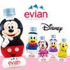 エビアン、まぁるいボトルにミッキー&ミニーたちディズニーキャラをデザイン!ユニークな形状のミネラルウォーター新発売