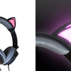 ピンクの猫耳がLEDライトで点灯♡ 音楽もムードも盛り上げる『光る猫耳ヘッドフォン(黒猫)』ヴィレヴァンオンラインにて予約受付中