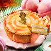 甘くジューシーで繊細な白桃の味わい涼やか♪ 花びらみたいな飾り付けが可憐な『パブロのチーズタルト-ピーチピクニック-』期間・数量限定発売