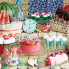 """金魚ゼリーに、たこ焼き風ガトーショコラも☆ """"祭り""""をテーマにした『日本橋 おとななつまつりランチブッフェ』XEX 日本橋で開催"""