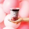 ピンク色にほうじ茶とチャコールを使った黒を合わせた「PINK but PUNK」限定発売!ALFRED TEA ROOM日本上陸1周年記念