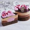 華やかピンクのルビーチョコや宇治抹茶がクリスマス気分を盛り上げる♪ ローソンにてお試しサイズのクリスマスケーキが発売中!