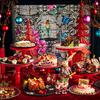 華やかで不思議なクリスマスメニュー♡<12月限定>クリスマススイーツブッフェ「アリスが迷い込んだ不思議なパーティ」、京王プラザホテルの2階 オールデイダイニング<樹林>にて開催☆