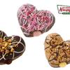愛らしいハート型ドーナツの中にリッチなチョコがとろ~り♡ クリスピークリーム『フォンダンドーナツ』登場