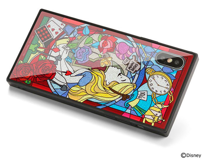 adb9ac126c iPhone XS/X専用の大人気TILEケースに、「ステンドグラス風」×「グリッター」で心ときめくディズニーキャラクターデザインが登場。光沢感のある強度9H強化ガラスを  ...