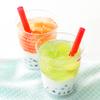 タピオカ入りがうれしい♪ ストローで飲めちゃうカップスイーツ『ストロージェリー』ピーチ&マスカット果汁の2種類で登場!