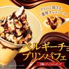 なめらかプリンに濃厚チョコソースが絡まる♡『ベルギーチョコプリンパフェ』ミニストップから発売!
