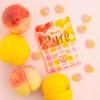 白桃&黄桃の味わいが楽しめる、ツートーンカラーの可愛いピュレグミ♡ カンロ『ピュレグミWピーチ』新発売