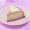 """まるで大きな虹のよう!4色のクレープを重ねた""""ゆめかわ""""スイーツ『レインボーミルクレープ』コージーコーナーから発売♪"""