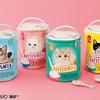 海外の子猫用ミルク缶をイメージ♡『ゴクゴク飲むにゃ!子猫ミルクバニティ―ポーチ』フェリシモ猫部™から発売!