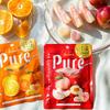 果汁20%配合&粒サイズが大きくなってさらに満足度アップ!ピュレグミプレミアム「白桃&すもも」「みかん&はっさく」新発売♪