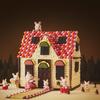明治×シルバニアファミリーがバレンタインに初コラボ!「赤い屋根のお家」をチョコで徹底再現&レシピ公開♡