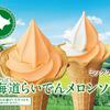 ミニストップ史上初使用ブランド『北海道らいでんメロンソフト』が新発売!芳醇な香りと赤肉メロンの甘みが魅力♡