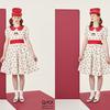 チェリードットにホイップクリームのフリル♡ Q-pot.(キューポット)から、レトロモダンな新作ドレス<チェリーポルカドット>がデビュー!