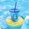 浮き輪型のカップホルダーに、冷たい飲み物を入れると色が変わるカップも♪ スターバックス®のオリジナルサマーグッズ付き製品が登場!