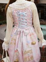 Be My Valentine〜Junoの祝福と鳥たちのAria〜柄リボンジャンパースカートの画像