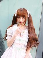 Sweet Cherries Cafe Girl ギンガムシフォンワンピースの画像