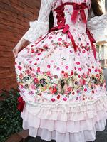 Lady Victorian Rose Jewelry〜想いは薔薇の花びらの上に〜柄ロングジャンパースカートの画像