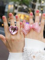 キラキララメ入り・ラメパールリボン・指輪ちゃんの画像