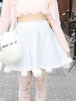 リボンファースカートの画像