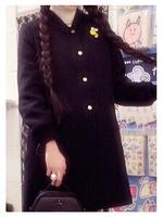 mysty woman/ウールメルトンロング丈スタジャンの画像