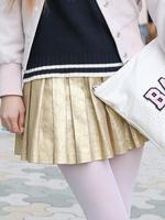 メタリックプリーツスカートの画像