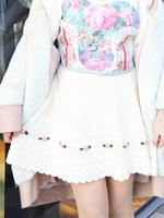 薔薇刺繍ニットスカートの画像