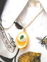 フレッシュレモンゼリー ネックレスの画像