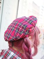 ハートベレー帽の画像