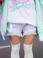 天使のレースアップリボン ショートパンツの画像