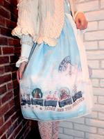 スノードームトレイン柄ジャンパースカートⅠの画像