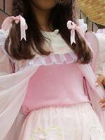 セーラー衿付きノースリーブニットの画像